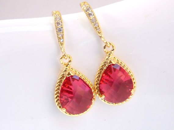 poshmark listing m fuschia chandelier earrings
