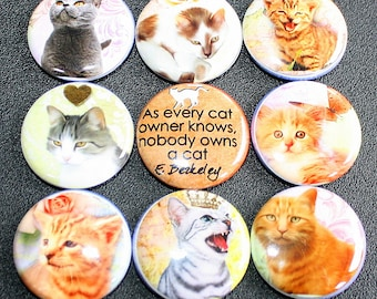 Cat Love Magnets - One Inch