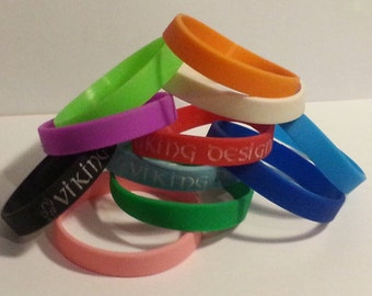 Personalised  Silicone Wristband (Engraved not colour printed)