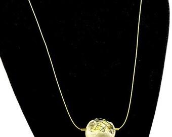 "Concrete jewelry contemporary ""Secret"" pendant necklace"