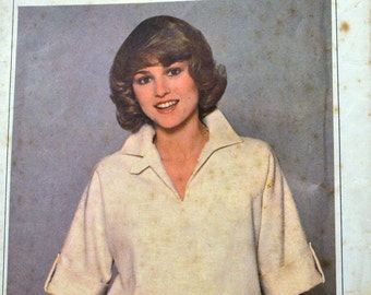 Vintage 1978 Pullover Dress Sewing Pattern Simplicity 8510 Misses' Size 14 Bust 36 Inches Complete