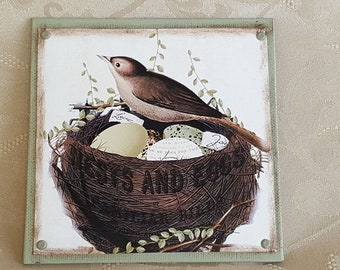 Spring Bird Nest Canvas Block of the Month (Block Only)