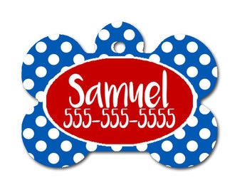 Red and Blue Personalized Dog Tag for Dog- Single Sided-Monogrammed Dog Tag-Pet id Tag-Dog Name Tag-Custom Dog Tag