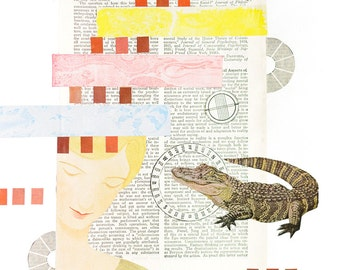 Mixed Media Art Print - Conciousness