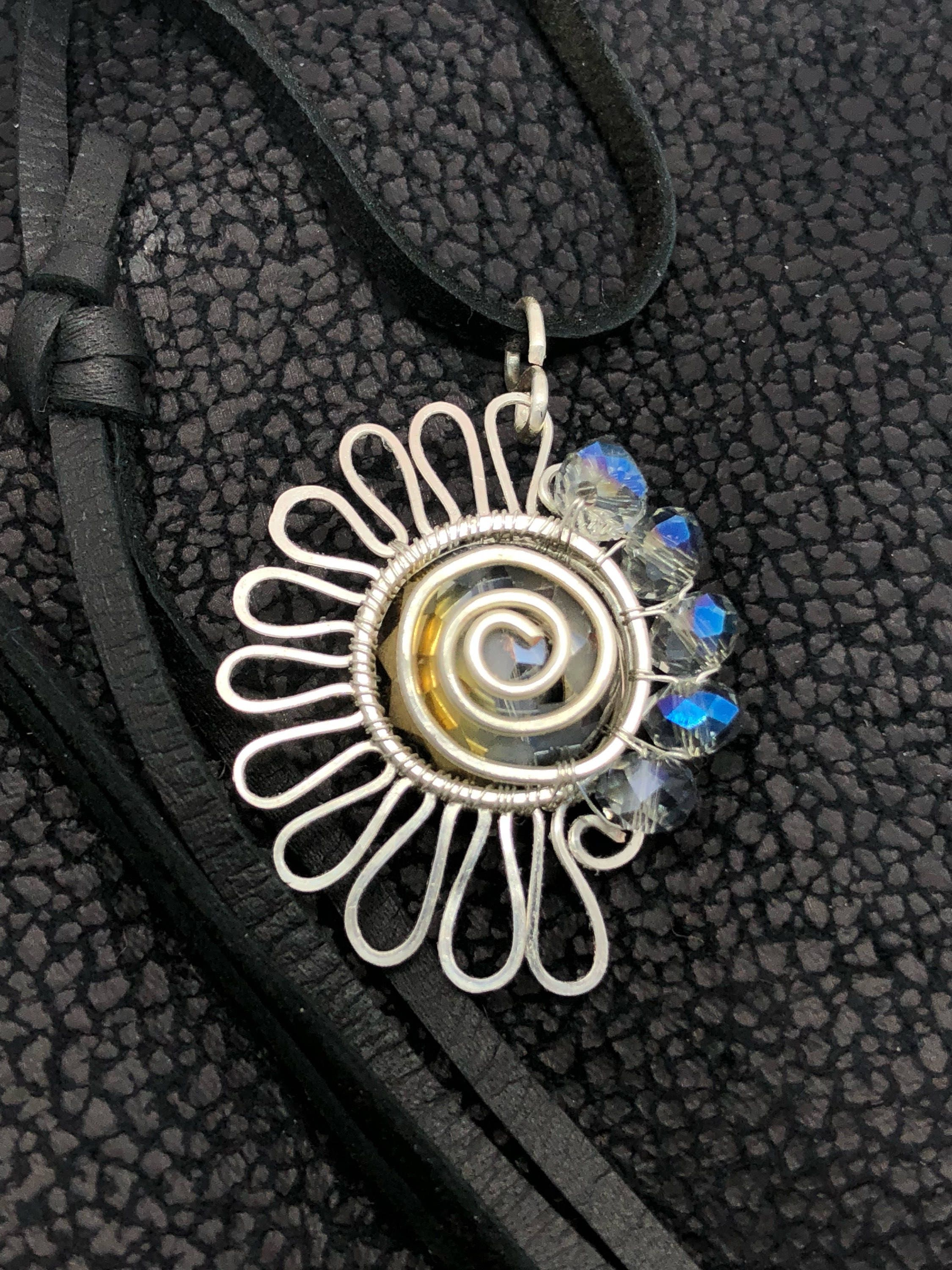 chakras cotton waxed brass flat with products pendant fairtrade cord spiral nepalese