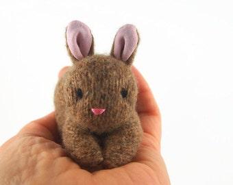 Bunny Rabbit, stuffed animal,waldorf toy, all natural toy, waldorf bunny, waldorf rabbit, toy stuffed bunny, small stuffed toy,