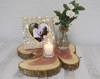 Rustic Wedding Centerpiece/Unique Shaped Wood Slice/Round Tree Bark Slice/Rustic wood