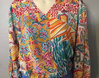 Vintage 1980s Diane Freis Original Blouse #2