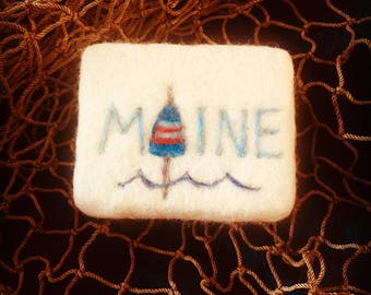 MAINE Buoy Felted Soap