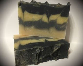 Black Chamomile Scented soap, handmade soap, artisan soap, cold processed soap