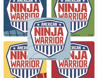 25 American Ninja Warrior Stickers Party Favor Supplies Decoration Envelope Seals Scrapbooking