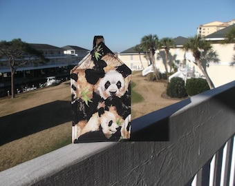 Panda Family Luggage Tag