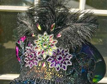 Festival Captain's Hat - Black Light Reactive Galaxy