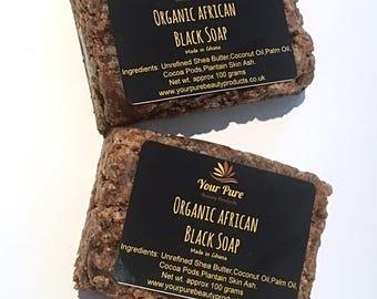 Organic African Black Soap 200g