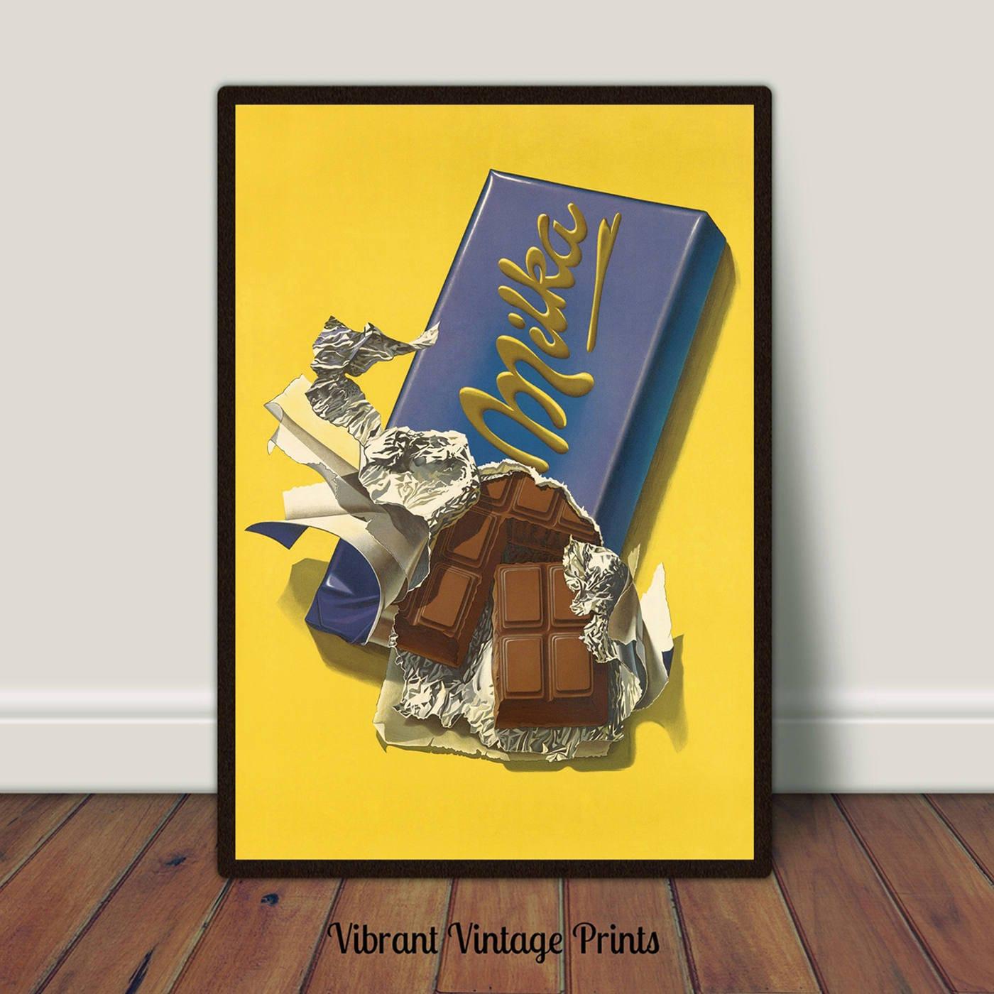 Chocolate Candy Bar Print PRINTABLE Art Kitchen Wall Art