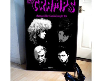 THE CRAMPS songs the lord taught us  promotional poster,garage,goth,punk,stay sick,a date with elvis,psychedelic jungle