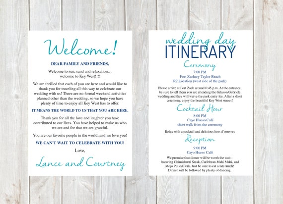 Wedding Welcome Dinner Invitation Wording: Welcome Letter Wedding Welcome Letter Wedding Itinerary