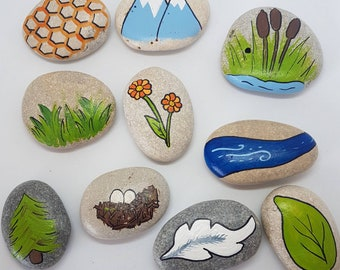Nature Story Stones /Story Stones /School /Learning /Play /Reading /Imaginations /Children /Kids