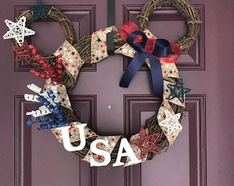 Custom Mickey Shaped Wreath - Disney Wreath- Holiday Wreath- Grapevine Wreath - Large size