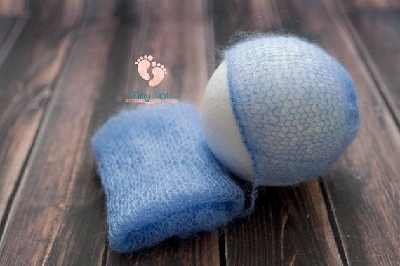 Cornflower Mohair Bonnet + Wrap