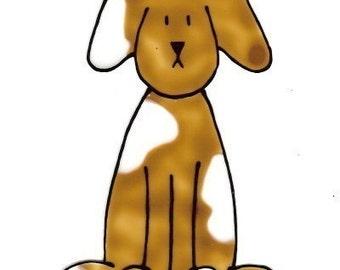 Doggie\/ Brown- Family Window Art