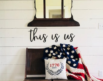 this is us Sign | Farmhouse Wall Sign