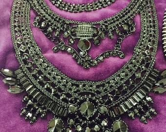 Princess Black Statement Necklace