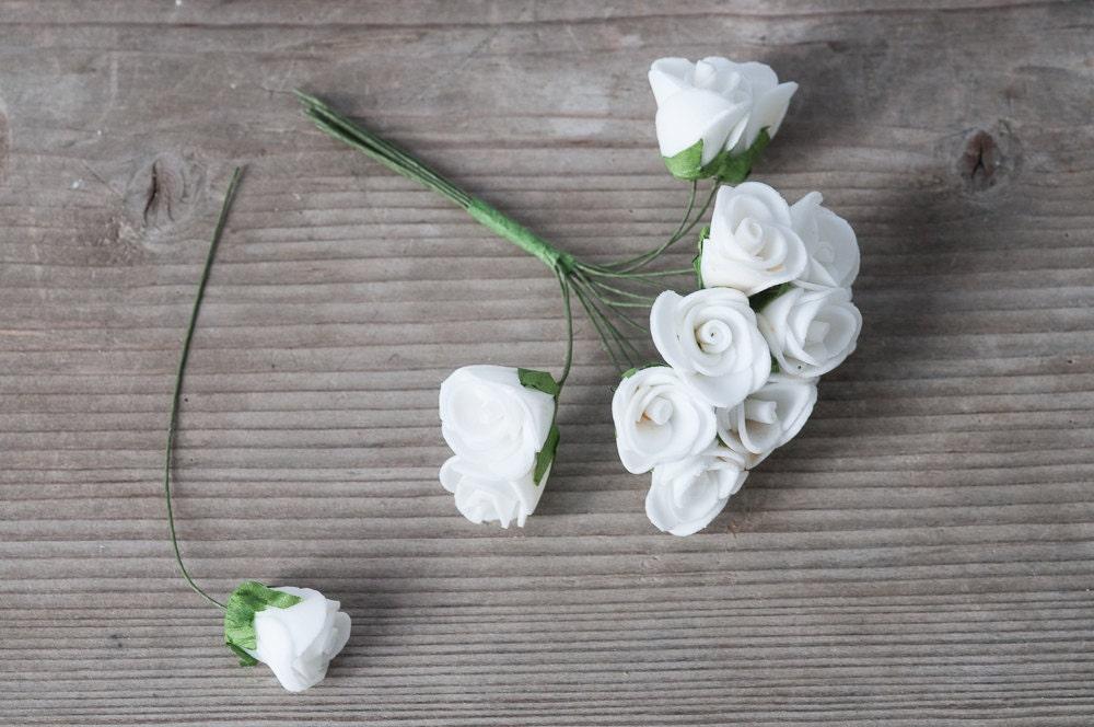 24 white foam roses white bouquet flowers miniature flowers small 24 white foam roses white bouquet flowers miniature flowers small roses small white flowers boutonniere roses wedding decor flowers from labodashop on mightylinksfo