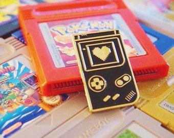 8 BIT LOVE : Game Boy Retro Gamer Enamel Pin