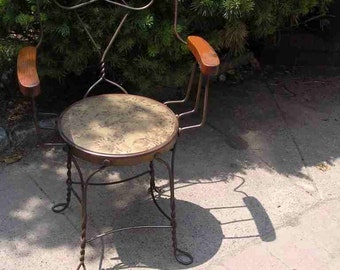 Vintage Ice Cream Parlor Chairs-Set of Four