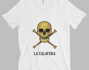 Loteria Card Tshirt - Mexican Loteria Print - La Calavera T-Shirt - Occult Print Graphic Tshirt - Graphic Tee - Skull Tshirt - Occult Shirt