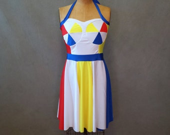 """MADE TO ORDER Katy Perry """"Beach Ball"""" Inspired Dress"""