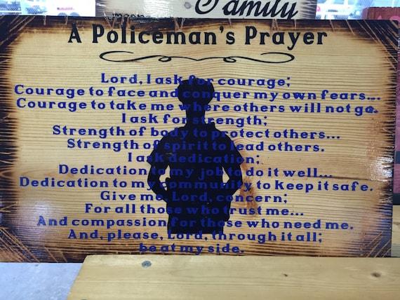 A policeman's Prayer/A Fireman's Prayer