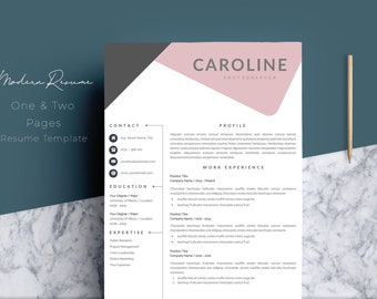 Free resume template Etsy