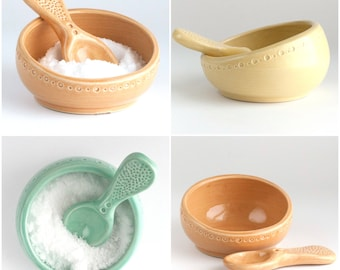 Ships 12/14 - Salt Cellar and Spoon - color options