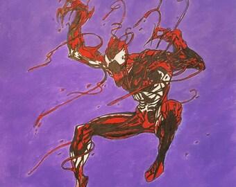 Venom print of original acrylic painting