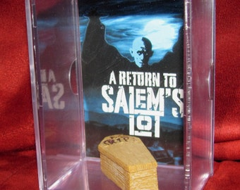 """Salems Lot Collectible Coffin display/NEW and makes a great """"Unique"""" Gift or a cool addition to a  collection"""