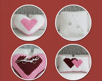 Wedding Ring Bearers and Pillows Crochet Pack (4 Designs)
