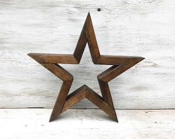 Star home decor etsy rustic wood star wooden star wooden star wall decor stained star home decor teraionfo