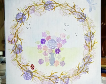 Demo card Wreath and Vase