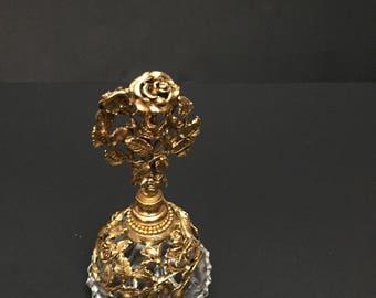 Vintage Signed Matson Rose Gold Perfume Bottle with Dauber***SALE***