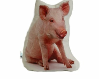 Pig Shaped Cushion, Add Custom Lettering, Handmade By Creature Comforts Direct, Personalised Pig Gift, Pig Pillow