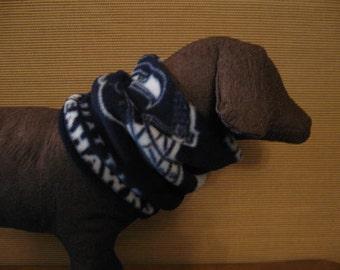 Reversible Seahawks Fleece Dog Cowl Neck Warmer