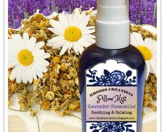 Pillow Mist Lavender Chamomile-4 oz. Blue Sprayer Bottle