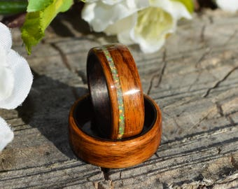 bentwood ring   wood ring   wood band   wood wedding band   rosewood ring set