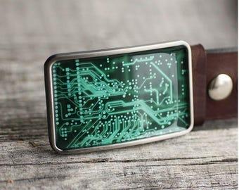 PCB Belt Buckle,  Circuit Board Belt Buckle, Geekery / Geek Belt Buckle, Computer belt buckle