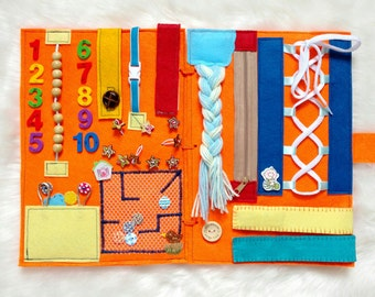 Baby busy board Baby activity board Quiet book Baby busy book Busy mat Toddlers busy board Kids gift Activity felt board Montessori Toy