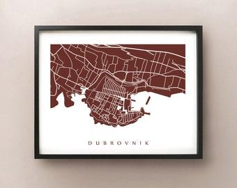 Dubrovnik Map Print