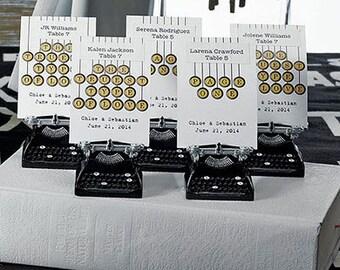 PACKS OF 6 Pieces Vintage Typewriter Card Holder - Wedding Favor - Wedding Placecard Holder - Wedding Accessory - Vintage Wedding
