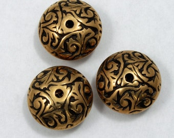 15mm Ornate Rondelle (4 Pcs) #1404